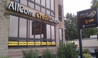 Front of branch -AllCom Credit Union